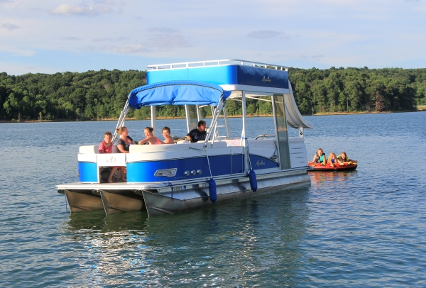 #80 Avalon Funship 2016  27' Tri-toon Ski Waterslide Pontoon Boat