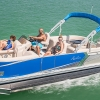 """FOR SALE:  Arriving at Gilligan's Boats Patoka Lake, Indiana from Avalon Factory August, 2018-- New 2019 Avalon 24 ft. LSZ Quad Lounger 2485 Tri-toon 25"""" dia tubes Loaded with options!  Suzuki 175 hp four stroke motor and trailer included!"""