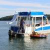 #81 Avalon Funship  27' Tri-toon Ski Waterslide Pontoon Boat