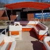#62 Family Orange Crush Cruiser 25 ft. 2003 Crest 2023 Sport XLRE Pontoon Boat