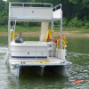 #33 Family Tri-toon Slow Tow & Slide 24 ft. 2006 Leisure 240 Meridian waterslide pontoon boat