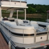 #78 Limo Tri-Toon Tow & Slide 31 ft. 2007 Waterslide Pontoon Boat