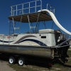 #77 Landau Elite Tri-Toon Tube & Slide 27 ft. 2005 Waterslide Pontoon Boat
