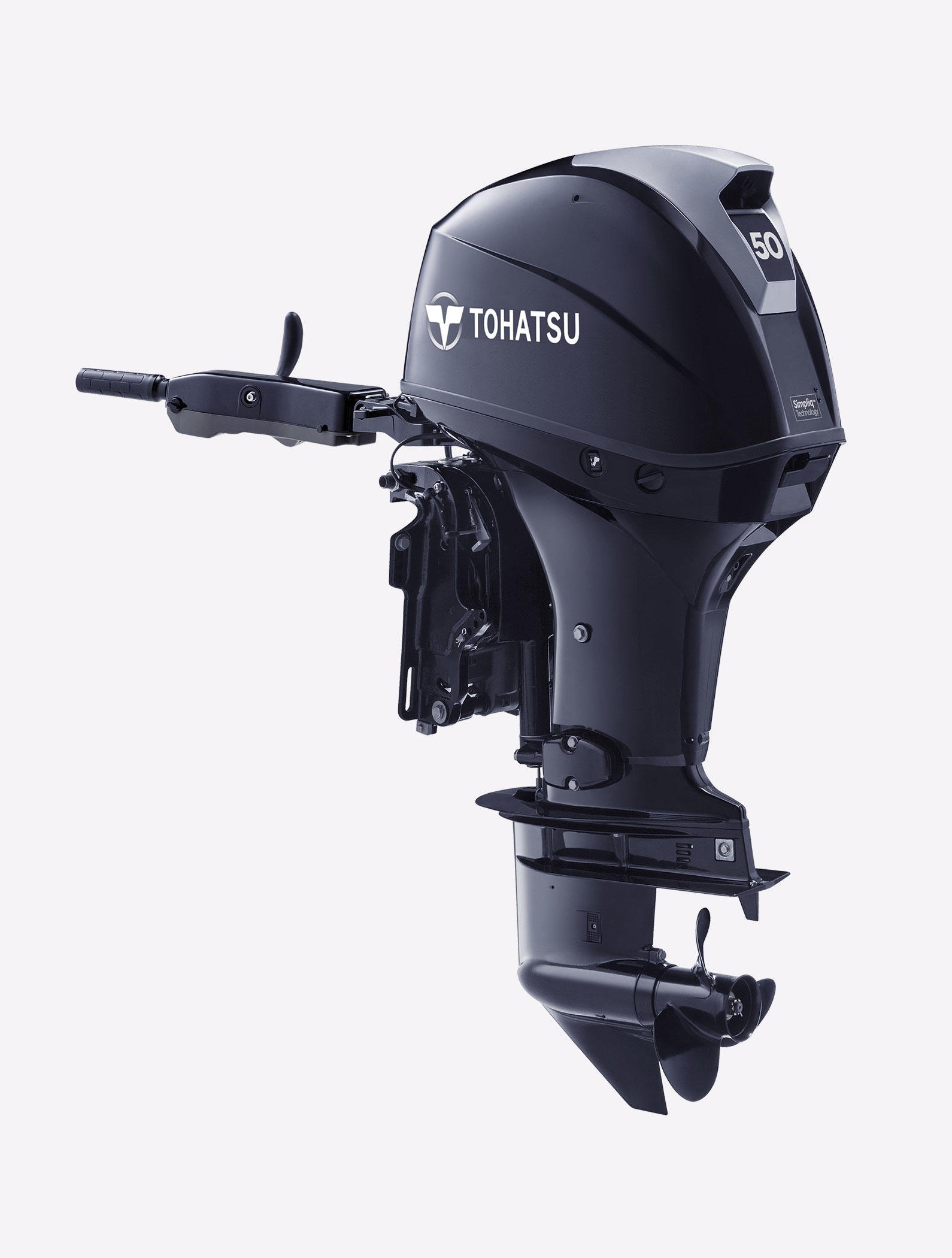 New 2018 Tohatsu MFS50AETL 50 hp Four Stroke EFI Outboard Motor