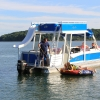 #81 Avalon Funship  27' Tri-toon Ski Waterslide Pontoon Boat