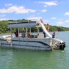 #79 Limo Tri-Toon Slow Tow & Slide 31 ft. 2009 Waterslide Pontoon Boat